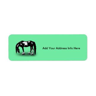 Skater Horse Return Address Label