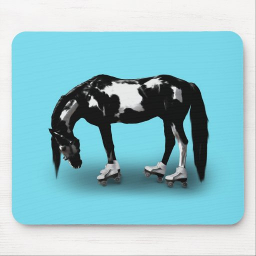 Skater Horse Mouse Pad