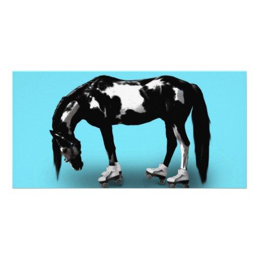 Skater Horse Photo Card