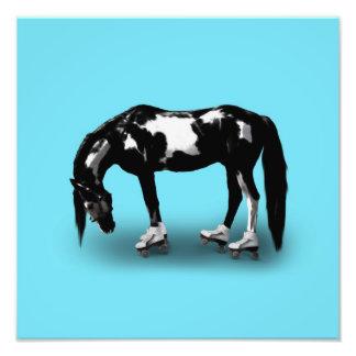 Skater Horse Art Photo