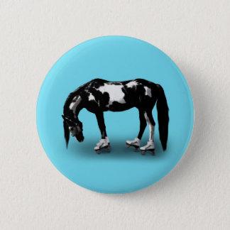 Skater Horse Pinback Button