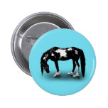 Skater Horse Pinback Buttons