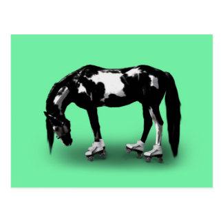 Skater Horse Postcard