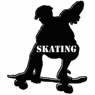 Skater in black cutout
