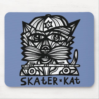"""Skater Kat"" Mousepad"