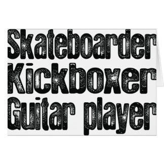 Skater, Kickboxer, guitarrista Tarjetas