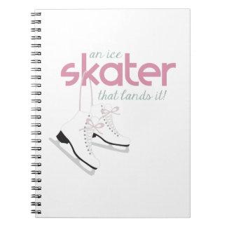 Skater Lands It Spiral Notebook