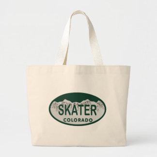 Skater license oval large tote bag
