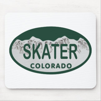 Skater license oval mouse pad
