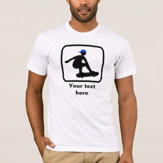 Skater Logo -- Customizable T-Shirt