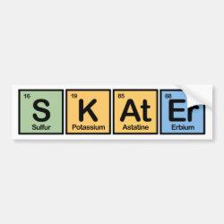Bumper Sticker with Skater design