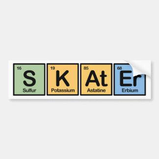 Skater made of Elements Bumper Sticker