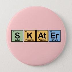 Round Button with Skater design