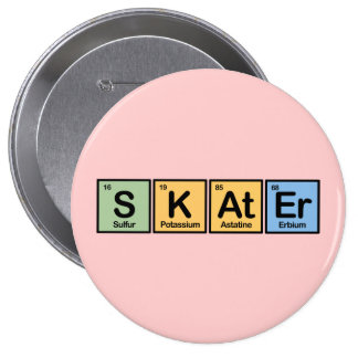 Skater made of Elements Button