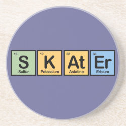 Sandstone Drink Coaster with Skater design