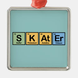 Premium Square Ornament with Skater design