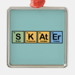 Skater made of Elements Ornament