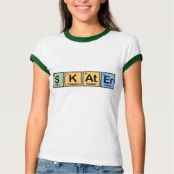 Ladies Ringer T-Shirt with Skater design