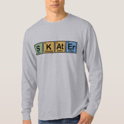Men's Basic Long Sleeve T-Shirt with Skater design