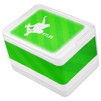 Skater; Neon Green Stripes Drink Cooler