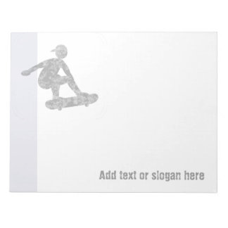 Skater on Skateboard Logo and Slogan Notepad