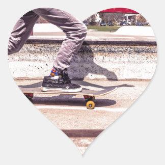 Skater Pegatina En Forma De Corazón