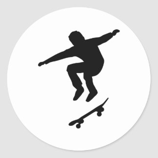 Skater Pegatina Redonda