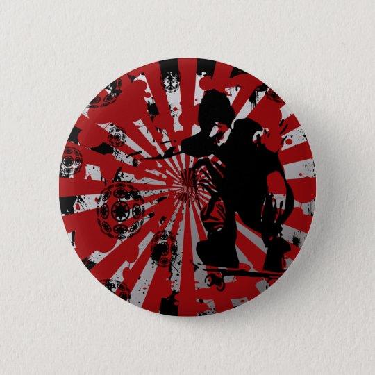 Skater Pinback Button