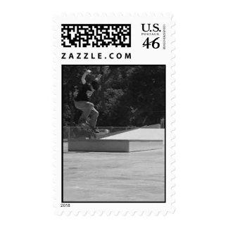 Skater Postage Stamp