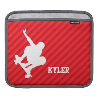 Skater; Rayas del rojo del escarlata Fundas Para iPads