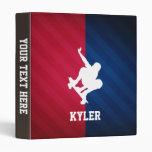 Skater; Red, White, and Blue 3 Ring Binder