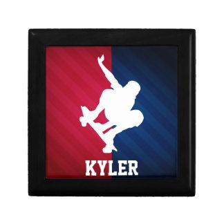 Skater; Red, White, and Blue Gift Box