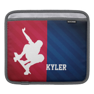 Skater; Red, White, and Blue iPad Sleeve
