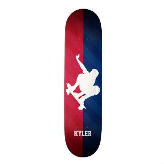 Skater; Red, White, and Blue Skateboard Deck
