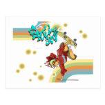 Skater retro del estilo libre tarjeta postal