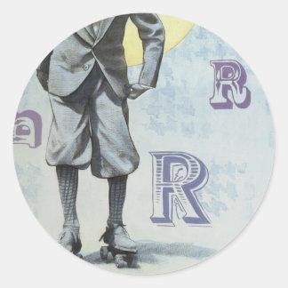 Skater Round Stickers