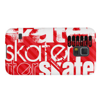 Skater; Scarlet Red Stripes Case For Galaxy S5