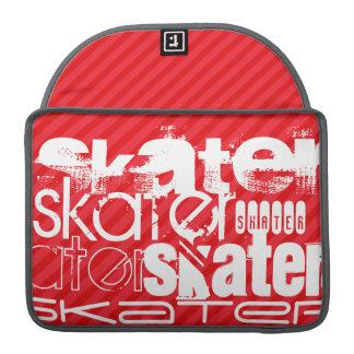 Skater; Scarlet Red Stripes MacBook Pro Sleeve