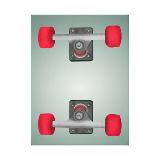 Skater Skateboard Skateboarding Wheels and Trucks Canvas Print