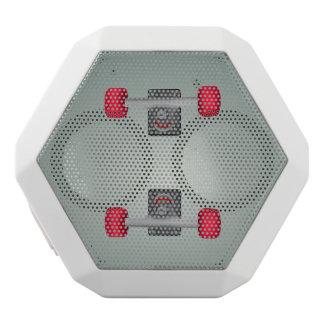Skater Skateboard Skateboarding Wheels and Trucks White Bluetooth Speaker