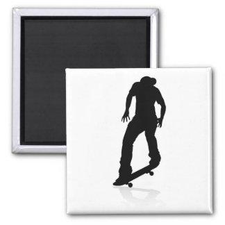 Skater Skateboarder Silhouette Magnet