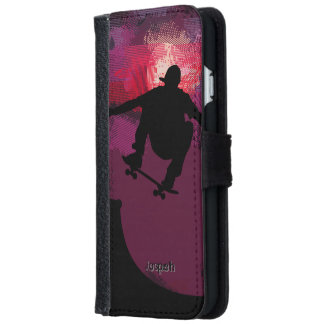 Skater Skating Wallet Phone Case For iPhone 6/6s
