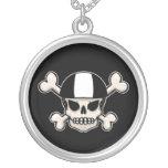 Skater skull and crossbones necklace