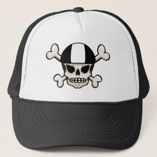 Skater skull and crossbones trucker hat