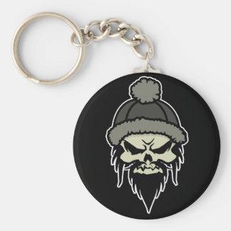 Skater Skull Keychain