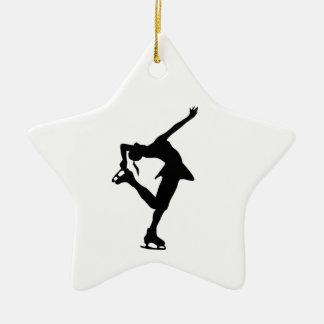 Skater Star Ornament B&W