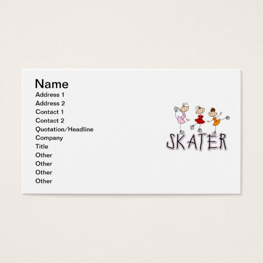 Skater T-shirts and Gifts Business Card