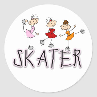 Skater T-shirts and Gifts Round Sticker