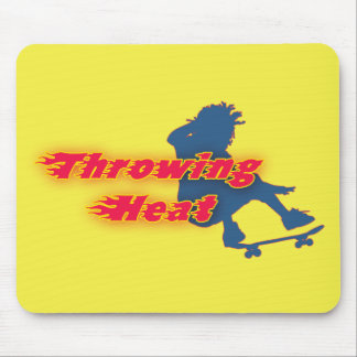 Skater Throwing Heat Mousepad