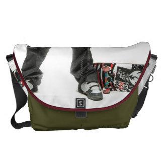 Skater with Boombox - Large Rickshaw Messenger Courier Bag